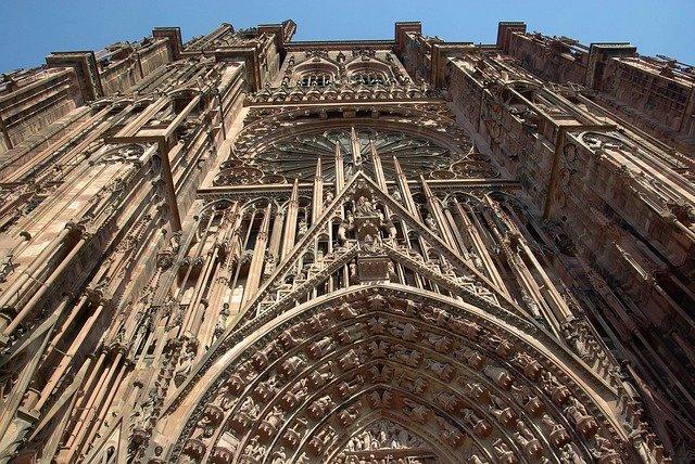 façade cathérale de Strasbourg